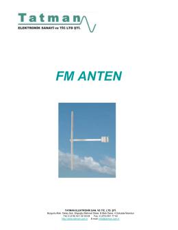 FM ANTEN - Tatman Elektronik