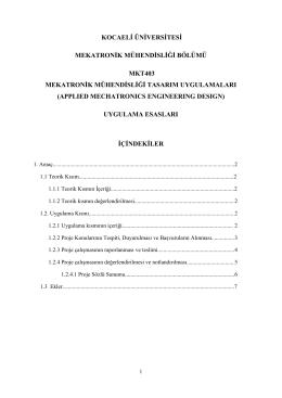 MKT403 App. Mec. Eng. Design Ugulama Esasları