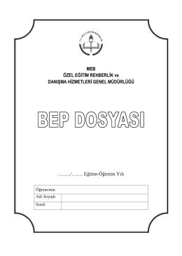 BEP Dosyası - Menderes İlkokulu