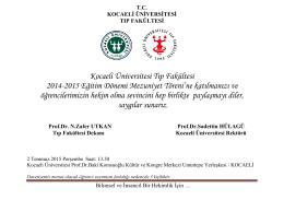 Kocaeli Üniversitesi Tıp Fakültesi 2014