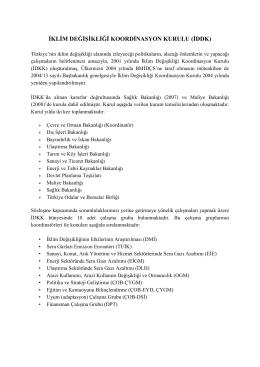 İKLİM DEĞİŞİKLİĞİ KOORDİNASYON KURULU (İDDK)