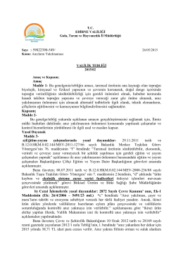 2015 anzteb - Edirne İl Gıda Tarım ve Hayvancılık Müdürlüğü