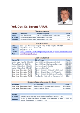 Yrd. Doç. Dr. Levent PARALI - 02.Kas.15