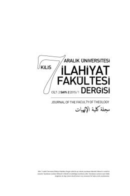 Dergi Jeneriği - İlahiyat Fakültesi
