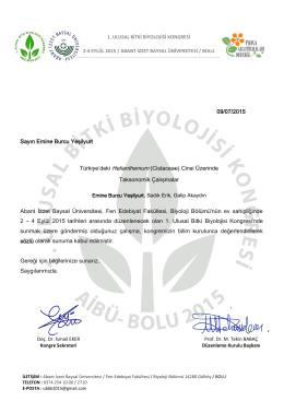 indir - 1. ulusal bitki biyolojisi kongresi