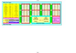 2nd leg Fixtures Citas 2a. parte