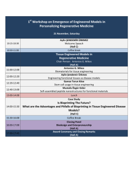 Workshop Programme