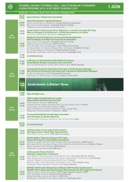 program akısı-OK - Yeşil İş Konferansı
