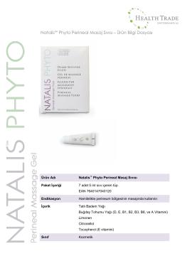 Natalis™ Phyto Perineal Masaj Sıvısı – Ürün Bilgi Dosyası