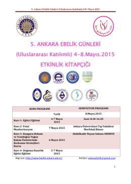 5. Ankara Ebelik Günleri - Sağlık Bilimleri Fakültesi