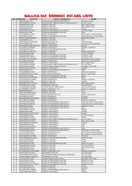 ballıca kız öğrenci evi asil liste
