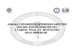2015&2016 Eğitim-Öğretim Yılı I. Yarıyıl (Güz)