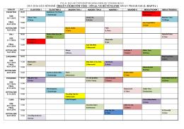 2015-2016 güz dönemi örgün öğretim vize