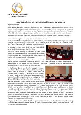 cogeyb faaliyet raporu-2014 - Çocuk ve Gençlik Edebiyatı Yazarlar