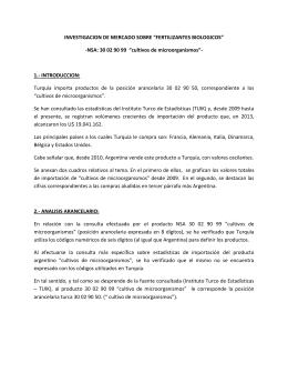 """NSA: 30 02 90 99 """"cultivos de microorganismos"""""""