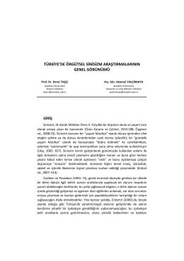 türkiye`de örgütsel sinisizm araştırmalarının genel görünümü