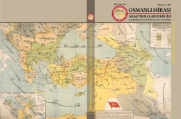 anlı M - Osmanlı Mirası Araştırmaları Dergisi (OMAD)