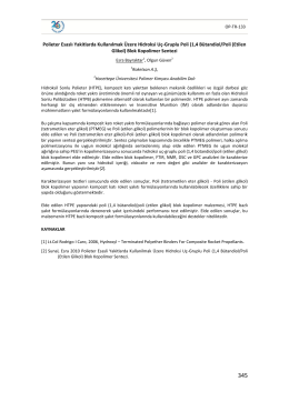 (1,4 Bütandiol/Poli (Etilen Glikol) Blok Kopolimer Sen