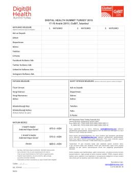 Kayıt Formu 2015