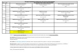 2015-2016 Lisansüstü Yapı İşletmesi Ders Programı