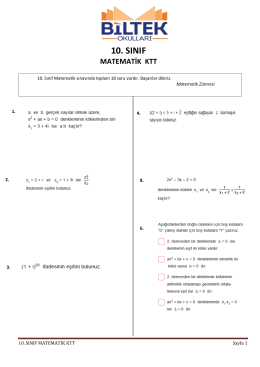 10. sınıf matematik ktt