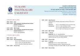 Çalıştay Programı - Kamu Yönetimi