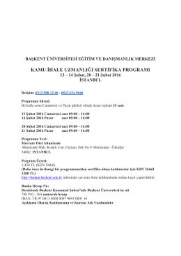 kamu ihale uzmanlığı sertifika programı - bedam