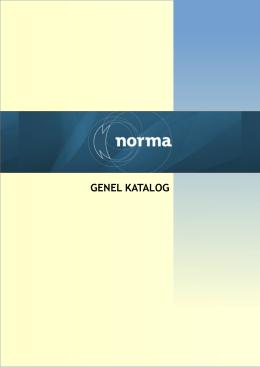 GENEL KATALOG - Norma Mühendislik Web Sayfası