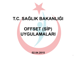 OFFSET (SİP) - Bilkent Üniversitesi Teknoloji Transfer Ofisi (TTO)