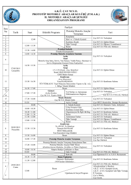 2015 Org. Programı