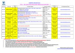 Liste 2 - Yaşar Üniversitesi