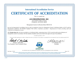 MSCB-102 -- AVU Registrations, Inc.(Rosebush, MI)