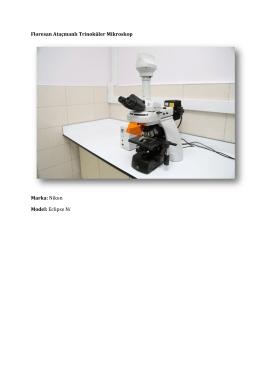 Floresan Ataçmanlı Trinoküler Mikroskop Marka: Nikon Model