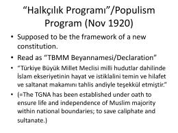 "1921 Constitution (""Teşkilat"