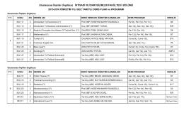 Uluslararası İlişkiler (İngilizce) - İktisadi İdari Bilimler Fakültesi