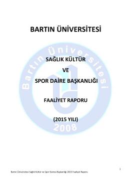 Bartın Üniversitesi Sağlık, Kültür ve Spor Daire Başkanlığı