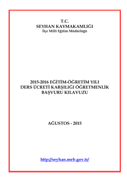 tc seyhan kaymakamlığı 2015-2016 eğitim