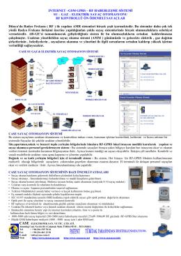 rf haberleşme sistemi - gprs & rf ile uzaktan su , gaz ve enerji