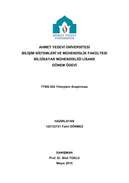 YöneylemAraştırmasıÖdevi2015