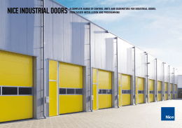 nice industrial doors a complete range of control units