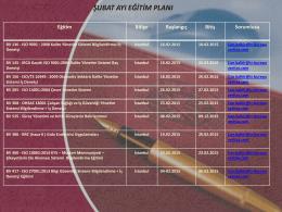 istanbul şubat ayı eğitim planı 2015