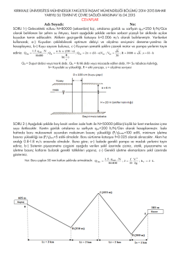 2014-2015 (Cevaplar) - İnşaat Mühendisliği Bölümü