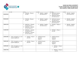 İnşaat Mühendisliği Bölümü 2015-2016 Güz Dönemi Ders Programı