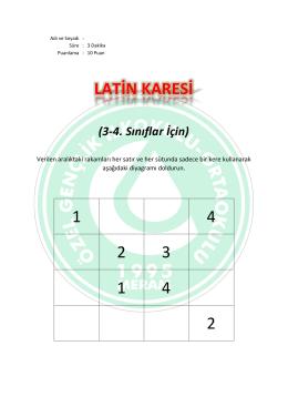 Latin Karesi 1 Sorular