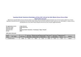 Değerlendirme Sonuçları Kapadokya Meslek Yüksekokulu