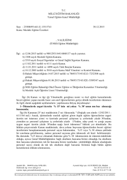 İlgi A, madde 6-7 - Servergazi İMKB Kız Teknik ve Meslek Lisesi