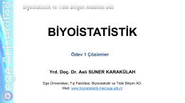 Dis_Hekimligi_Odev_ 1 - Biyoistatistik ve Tıbbi Bilişim Anabilim