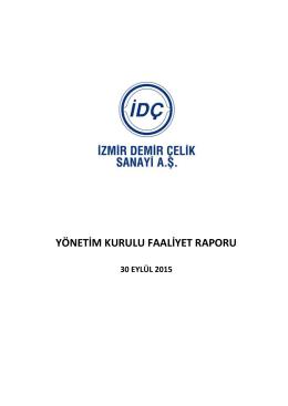 Faaliyet Raporu - İzmir Demir Çelik Sanayi A.Ş.