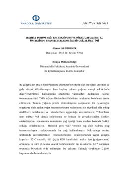 Kimya Mühendisliği - Anadolu Üniversitesi