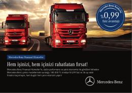 Hem işinizi, hem içinizi rahatlatan fırsat! - Mercedes